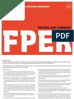Fper Record Summary