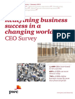 Pwc 19th Annual Global Ceo Survey