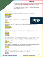 Current Affairs Q&A November 2015 PDF by AffairsCloud.pdf