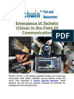 Emergence of Techwin (China) in the Field of Communication