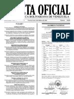 Gaceta Oficial Número 40.853 de la República de Venezuela, 20 de febrero de 2016