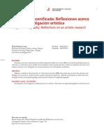 Articulo. Fotografía Escenificada - Reflexiones Acerca de Una Investigación Artística