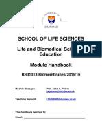 BS31013 Biomembranes Handbook 2015-2016_docx