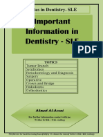 Important Note SLE Dentistry