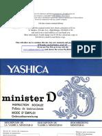 Manual Camara Yashica Minister D