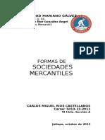 Formas de Sociedad Mercantiles