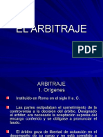 6. El Arbitraje