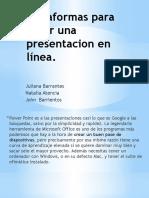 Plataformas para crear una presentacion en línea