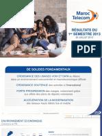 20130724 Maroc Telecom Présentation Résultats S1 2013 FR