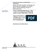 GAO Unconventional Oil Gas Production