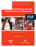 Sub National Governments and Business in Myanmar English