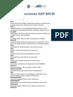 Transacciones SAP BI - ESAP