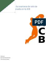 Análisis de La Covarianza de Ratio de Partidos Ganados en La ACB