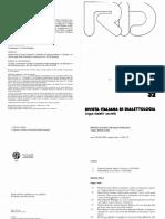 (Versione 2) Capitoli Per Una Storia Linguistica Del Giallo All'Italiana