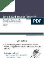 brown jennifer zero based budget proposal