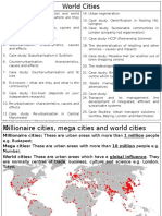 World Cities Revision Cards