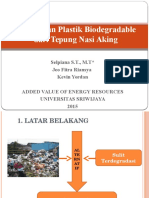 PPT Pembuatan Plastik Biodegradable Dari Tepung Nasi Aking