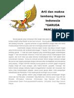 Arti Dan Makna Lambang Negara Indonesia