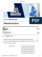Wikipedia for Robots