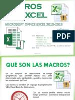 Macros en Excel 2010-2013