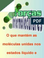 Forças Intermoleculares