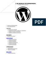 MANUAL DE MANEJO DE WORDPRESS