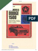 Dodge 1500. manual reparaciones