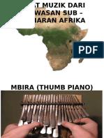 Alat Muzik Dari Kawasan Sub – Saharan Afrika
