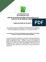 Convocatoria 01 de 2016 Semilleros de Investigación