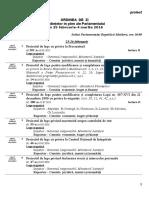 Proiectul Ordinii de Zi a Parlamentului (25.02-04.03)