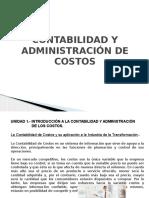 Contabilidad y Administración de Costos