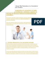 8 Técnicas Para Atraer Más Pacientes a Tu Consultorio Sin Gastar Un Solo Centavo