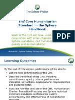 2 Module A8 the CHS in the Sphere Handbook Slides