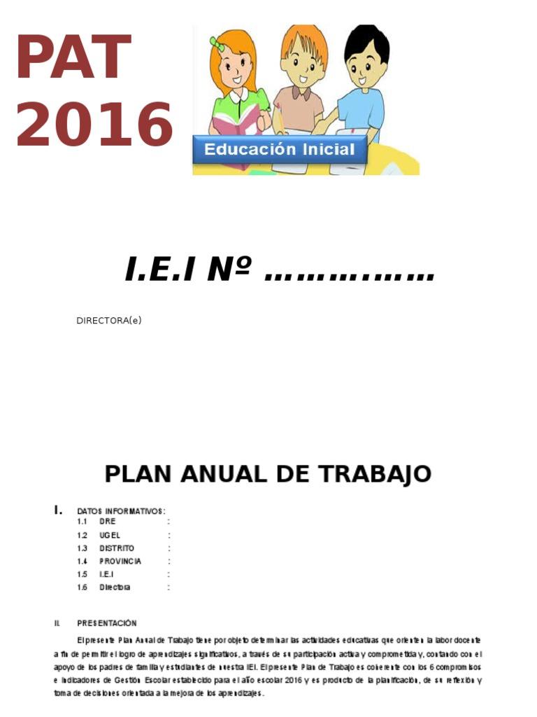 Atractivo Plantilla De Plan De Trabajo Personal Componente ...