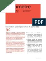 Baromètre Bourgogne-Franche-Comté / janvier 2016
