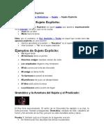 Ejemplos de Sujeto Explícito