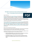 NCSSD Conditions for Learning School Audit Tool to Address Discipline Disparities