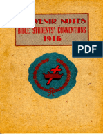 1916 Souvenir Notes - Bible Students' Conventions