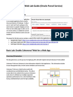 Lab Guide Coherence Web