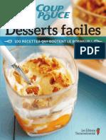 Coup de Pouce Desserts Faciles