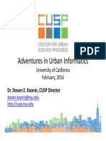 Adventures in Urban Informatics - Steven Koonin