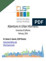 Adventures in Urban Informatics - Steven Koonin