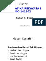 KULIAH 4-MATREK I-Barisan Dan Deret Takhingga1