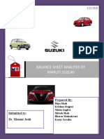 Balance Sheet Analysis of Maruti Suzuki