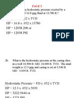 5 Pressure Basics Problems, PROBLEMS 1-6