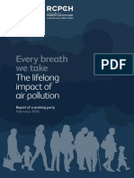 Efectos a largo plazo de la contaminación del aire.