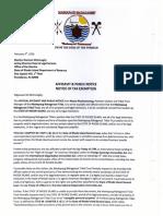 Mashapaug Nahaganset Tribe Affidavit of Tax Exemption