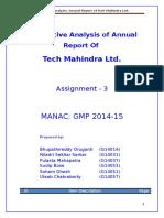 Quantitative Analysis of Annual Report - Tech Mahindra