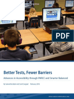 Better Tests, Fewer Barriers