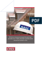 Minimum Structural Properties and Test Procedure for TG20 Compliant-prefabricated Structural Transom Units1